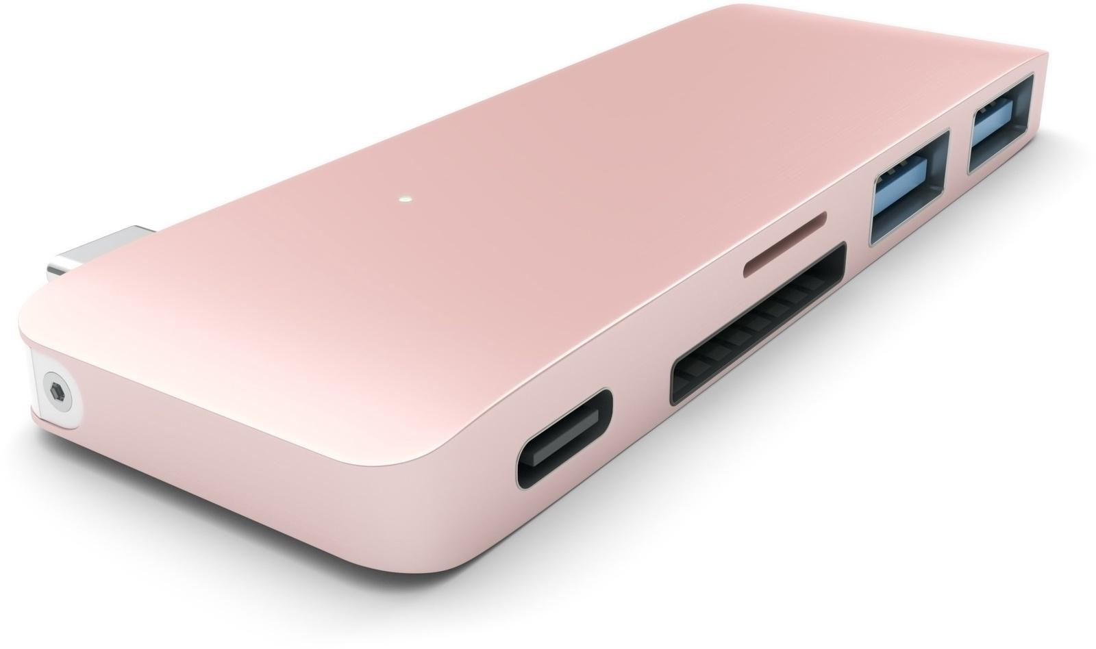 USB-хаб Satechi Type-C USB 3.0 Розовое золото ST-TCUPR