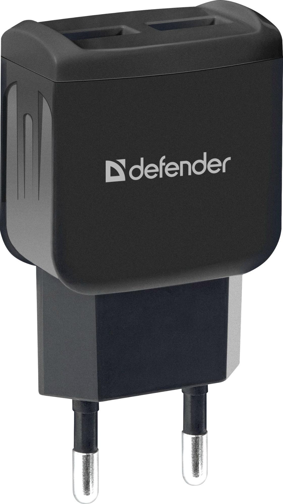 Фото - Сетевой адаптер Defender EPA-13 черный, 2xUSB, 5V/2.1А, пакет планшетные компьютеры