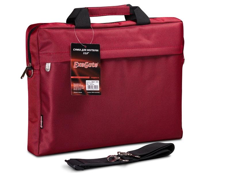 """Сумка Exegate Start S15 Red, красная, полиэстер, для ноутбуков до 15.6"""""""