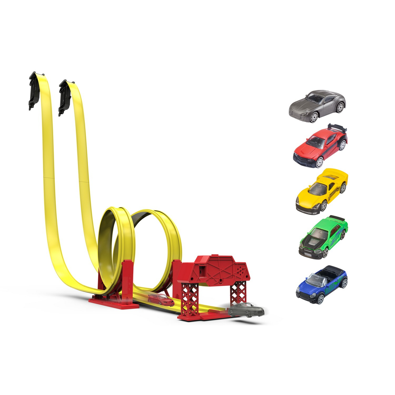 Игрушечный трек HTI Teamsterz Street Race S/Down, с 5 машинками, 1416443.00