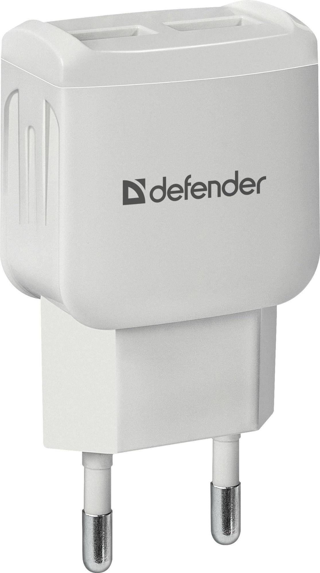 Фото - Сетевой адаптер Defender EPA-13 белый, 2xUSB, 5V/2.1А, пакет планшетные компьютеры