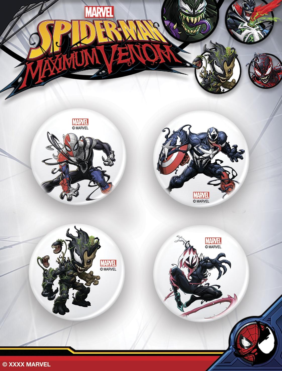 Значок Marvel Набор значков металлических Максимум Веном