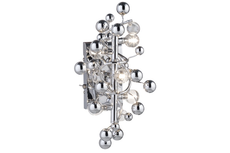 Cветильник настенный Sfera 5x10W G4 230/12V хром/прозрачный (с вкл+транс 60VA) цены
