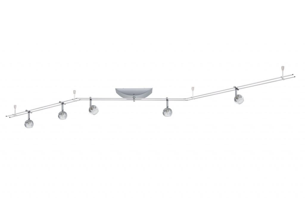Настенно-потолочный светильник трековый Globe 5x20W GU4, хром