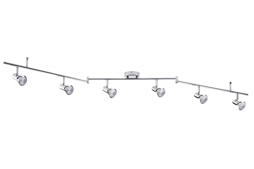 Настенно-потолочный светильник Lambda Stange 6x40W GU10 Chr спот paulmann lambda 60320
