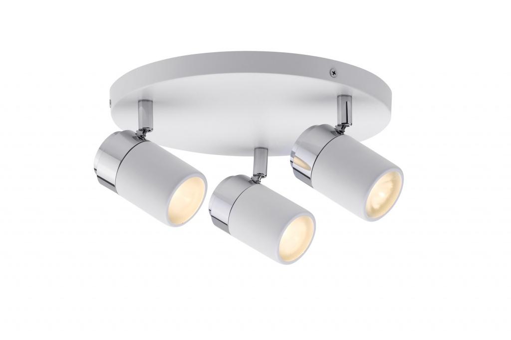 цена на Потолочный светильник Zyli IP44 Rondell 3x3,5W GU10 Ws/Chr