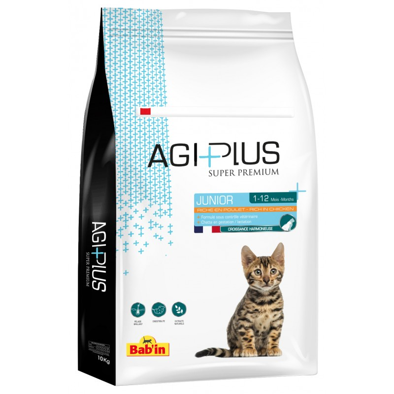 Сухой корм Babin Agi Plus Junior Poulet для котят всех пород, 2 кг