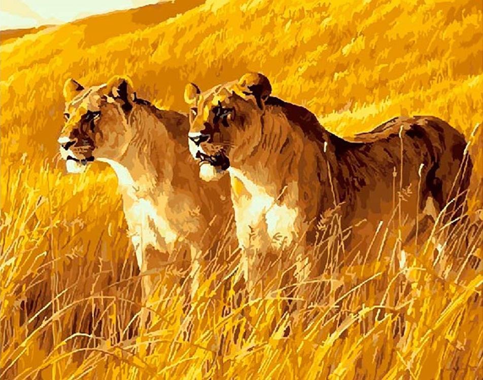 Картина по номерам Paintboy Original Грозное семейство 40х50см