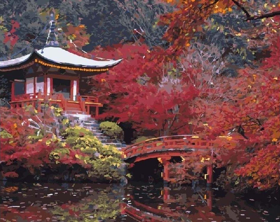 """Картина по номерам Paintboy Original """"Осень в Японии"""" 40х50см"""