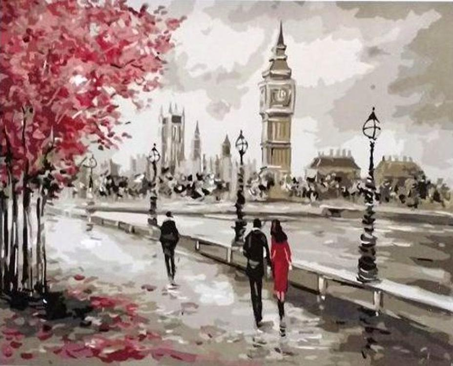 """Картина по номерам Paintboy Original """"Осень в Лондоне"""" 40х50см"""