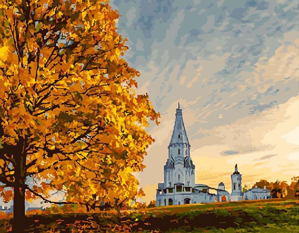 """Картина по номерам Paintboy Original """"Осень в Коломенском"""" 40х50см"""