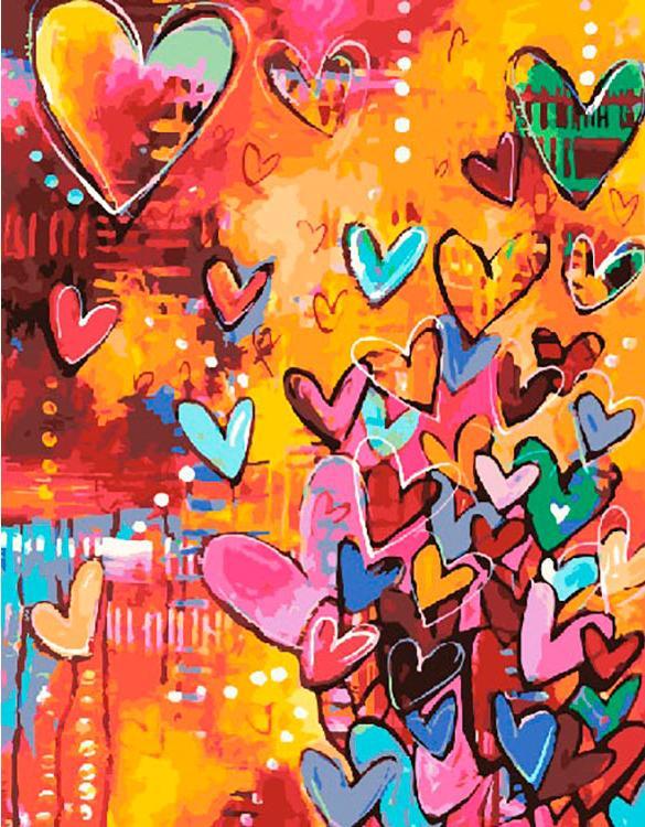 Картина по номерам Paintboy Original Сердца любви 40х50см