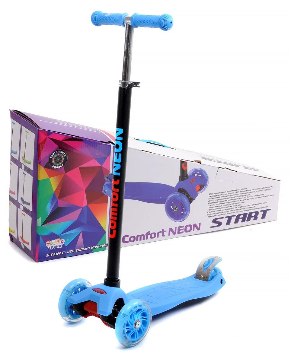 SS2NB Самокат четырехколёсный Slider, цвет голубой самокат 4 колеса