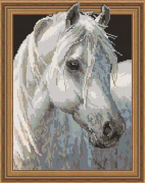 Алмазная мозаика Painting Diamond Белый конь, 40х50см diamond painting 2015 3d diy mzc 15