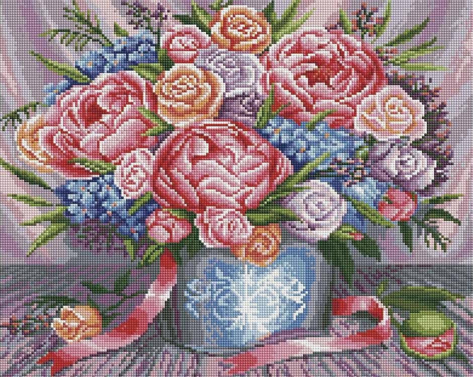 Алмазная мозаика Painting Diamond Букет в подарок, 40х50см diamond painting 2015 3d diy mzc 15