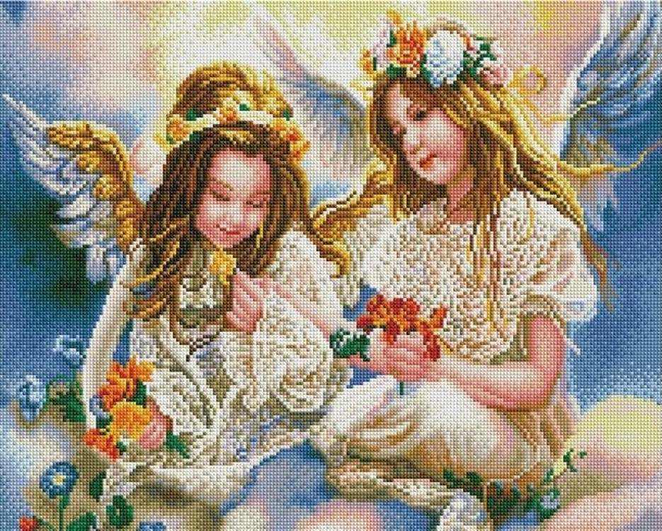 "Алмазная мозаика Painting Diamond ""Девочки-ангелы"", 40х50см"