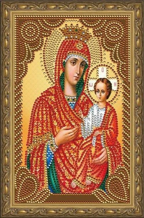 Алмазная мозаика Painting Diamond Икона Пресвятой Богородицы, 20х30см икона покрова пресвятой богородицы фото