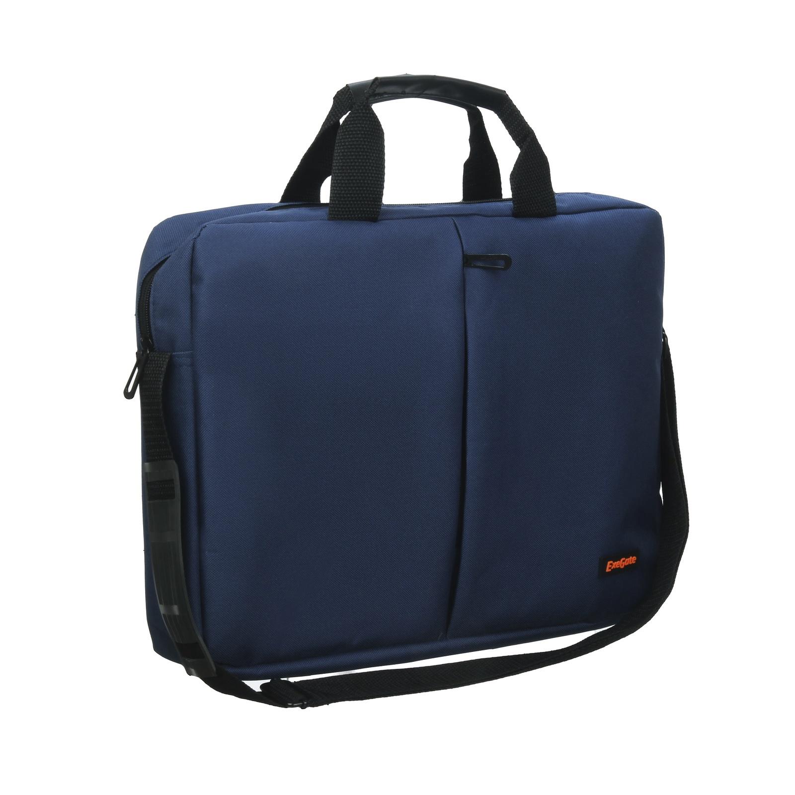 Сумка Exegate Office F1590 Dark-Blue, темно-синяя, полиэстер, для ноутбуков до 15.6 аксессуар сумка 15 6 exegate office f1595 black