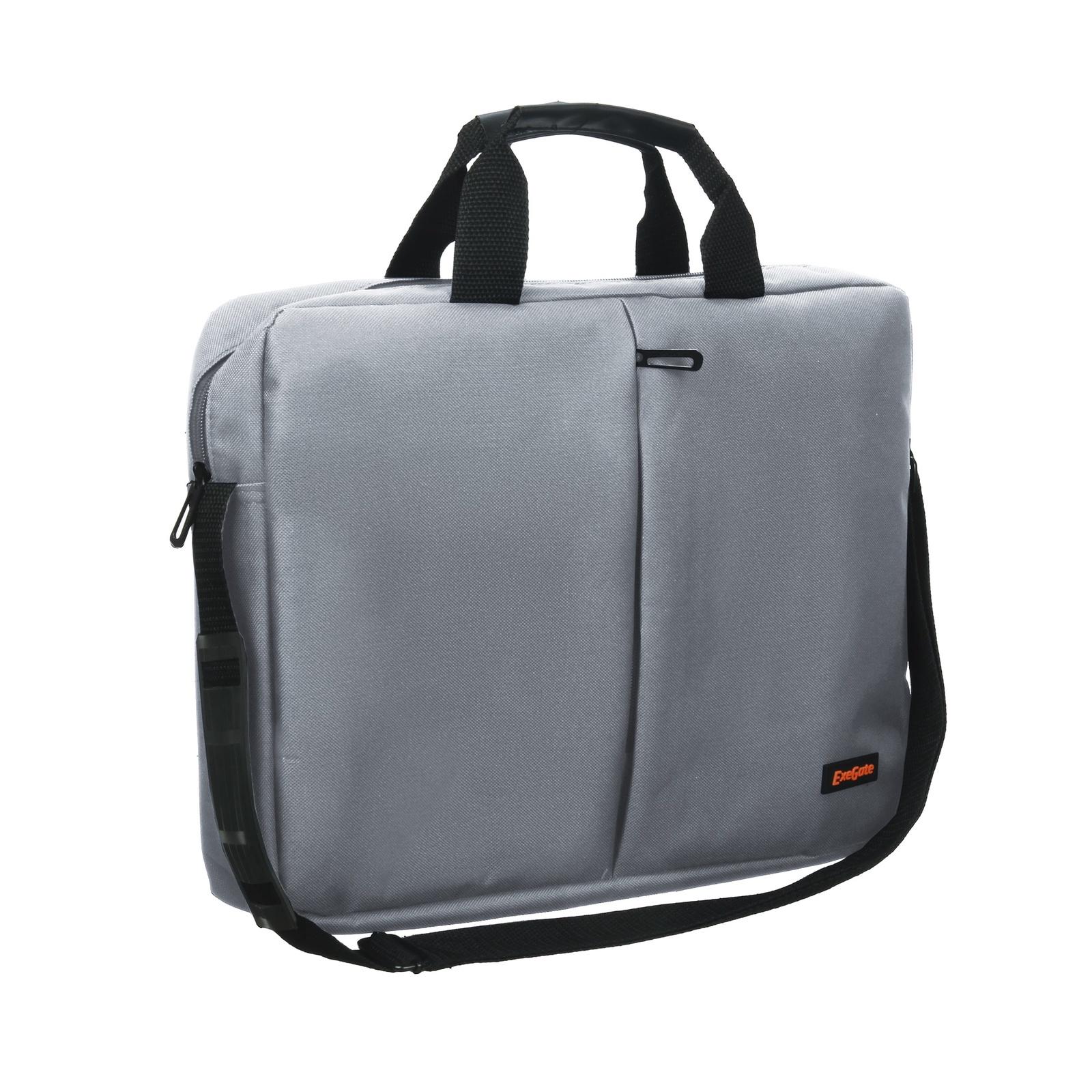 """Сумка Exegate Office F1590 Grey, серая, полиэстер, для ноутбуков до 15.6"""""""