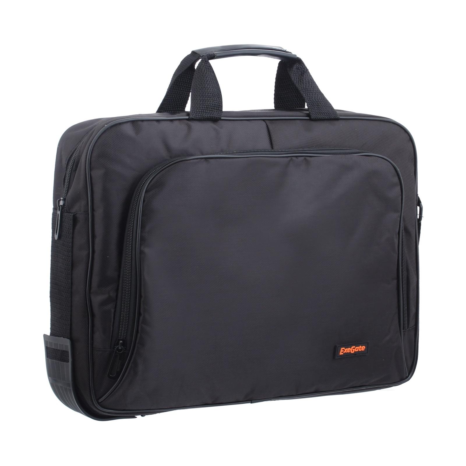 Сумка Exegate Office F1596 Black, черная, полиэстер, для ноутбуков до 15.6 аксессуар сумка 15 6 exegate office f1595 black