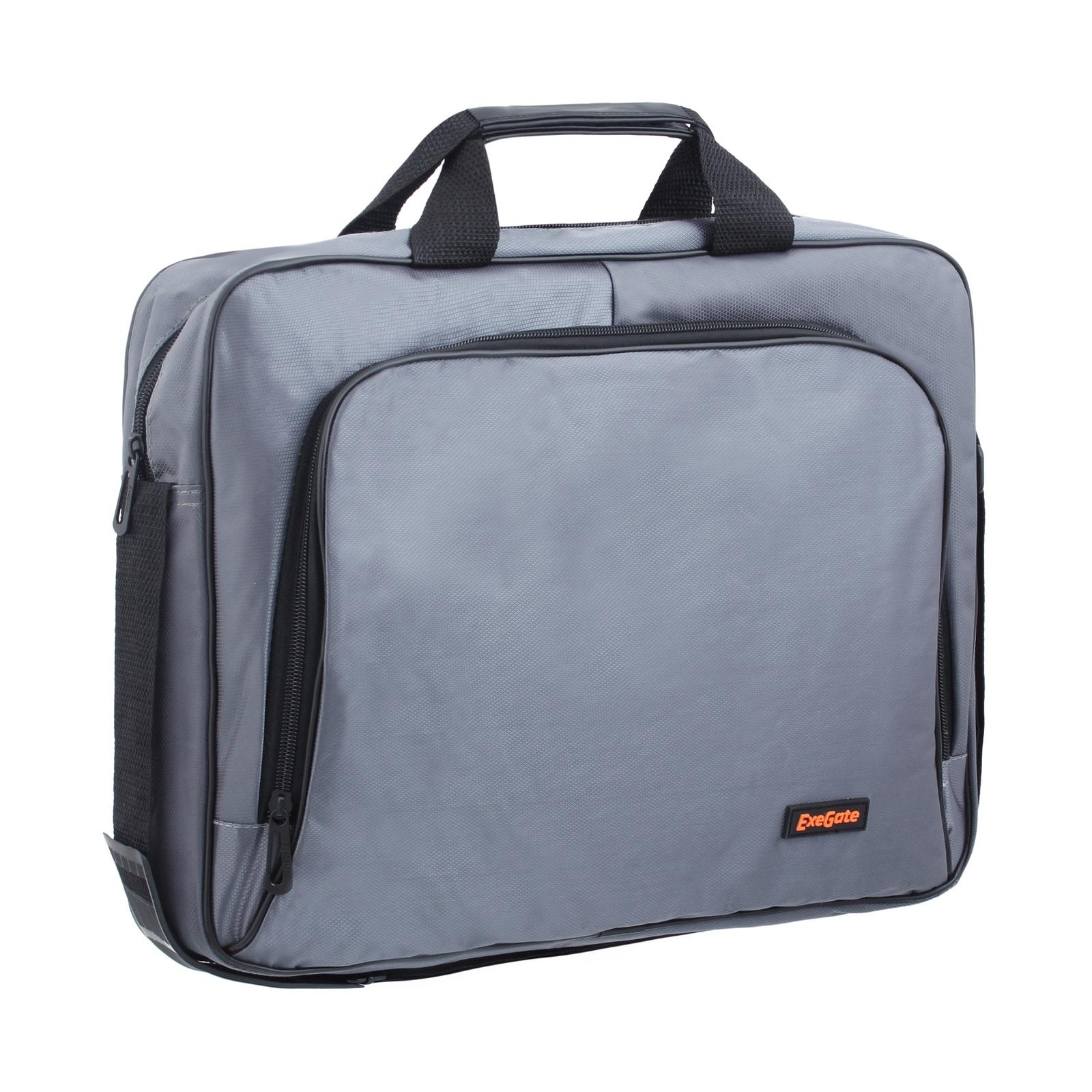 Сумка Exegate Office F1596 Dark-Grey, темно-серая, полиэстер, для ноутбуков до 15.6 аксессуар сумка 15 6 exegate office f1595 black