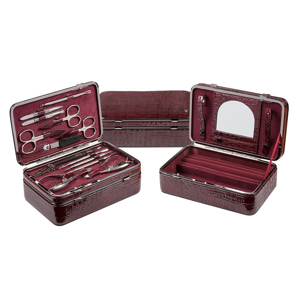 Zinger Маникюрный набор 15 предметов (MS-JB-830S),бордо