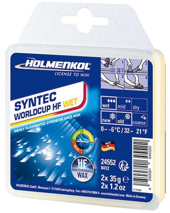 цена на Парафин Holmenkol Syntec World Cup Hf Wet, высокофторовый, 24552, 35 г х 2 шт