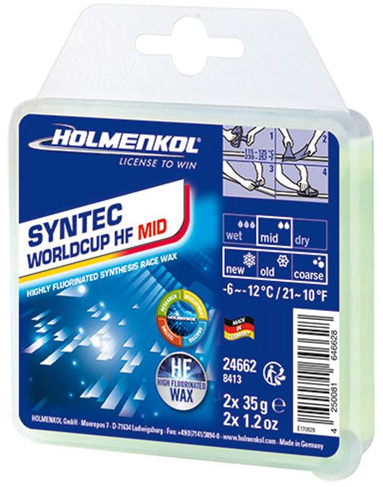 цена на Парафин Holmenkol Syntec World Cup Hf Mid, высокофторовый, 24662, 35 г х 2 шт