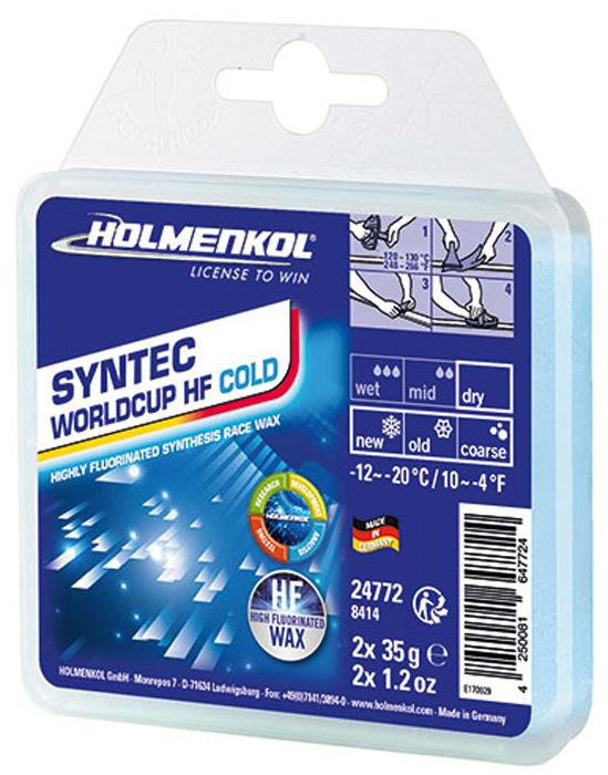 цена на Парафин Holmenkol Syntec World Cup Hf Cold, высокофторовый, 24772, 35 г х 2 шт