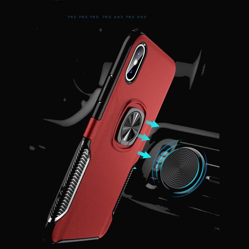 Роскошный кожаный металлический кольцо чехол для iPhone XR XS MAX X противоударный чехол для iPhone 7 8 6 плюс цена