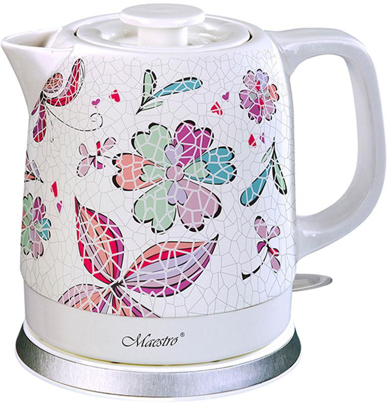 Фото - Электрический чайник Maestro, MR-068, белый электрический чайник maestro mr 029new серебристый