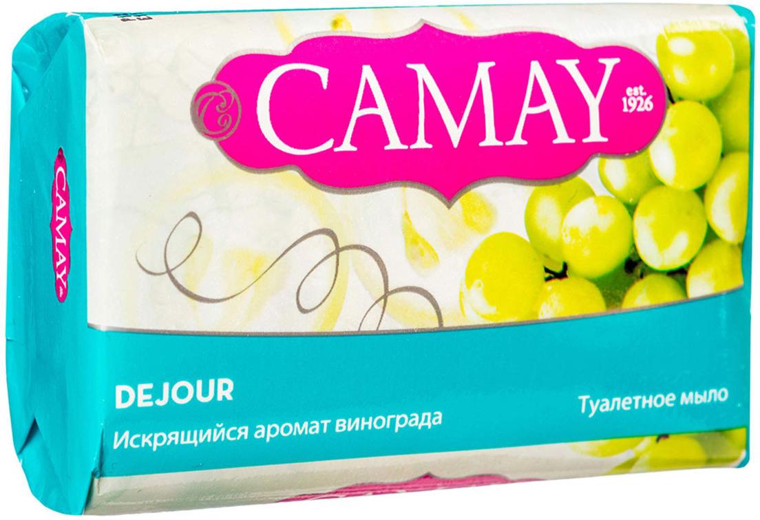 Мыло Camay Dejour, Искрящийся, аромат винограда, 85 г camay мыло твердое динамик 4х75г