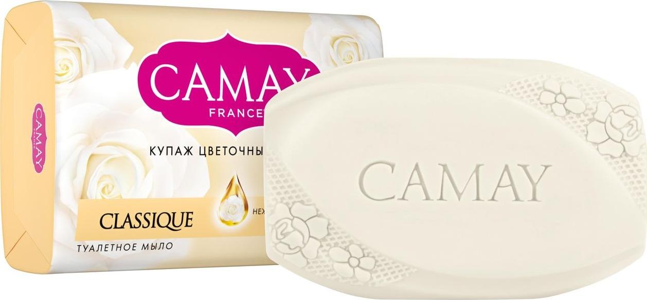 Мыло туалетное Camay Classique, 85 г camay мыло твердое динамик 4х75г