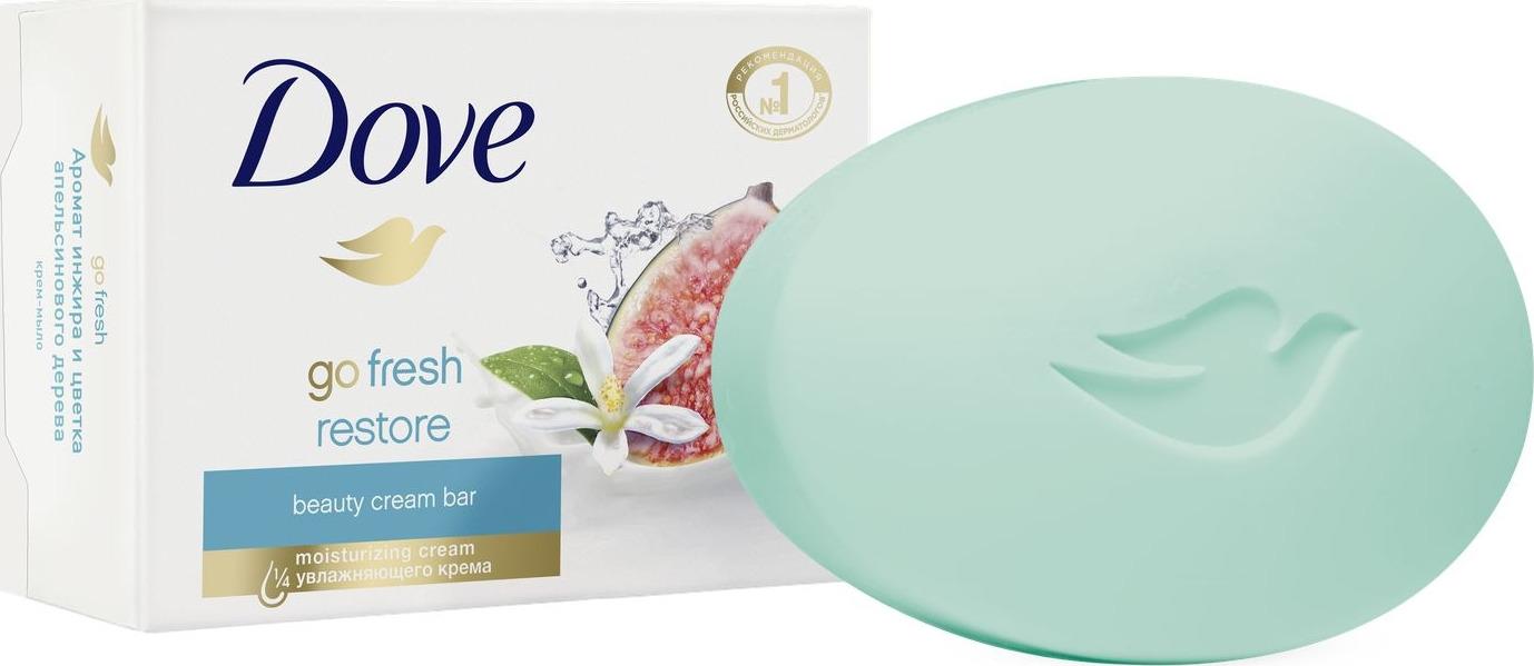 Крем-мыло Dove, инжир и лепестки апельсина, 100 г мыло dove пробуждение чувств 100 г