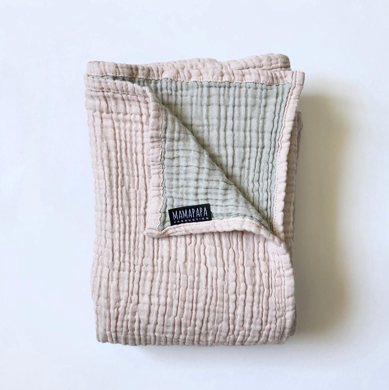 Муслиновое одеяло MamaPapa Пыльный розовый (120см*100см)