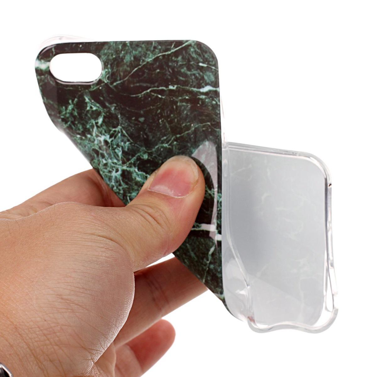 Для Iphone Se 5se 5 5s Мраморный узор Slim Fit Мягкий чехол для телефона Tpu Back Защитная крышка (темно-зеленый)