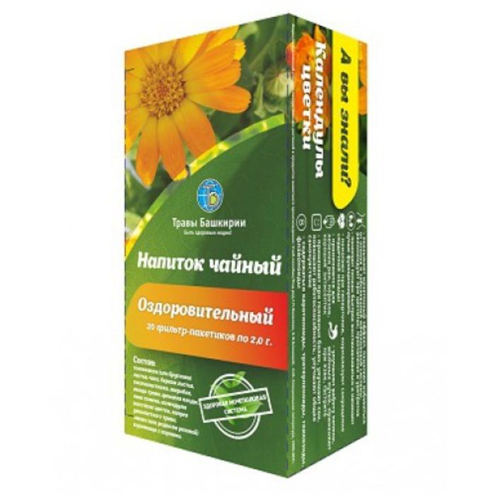 Напиток чайный Травы Башкирии Оздоровительный - для Потенции при Цистите - от Простатита - ф/п 2,0гх20шт zma для потенции