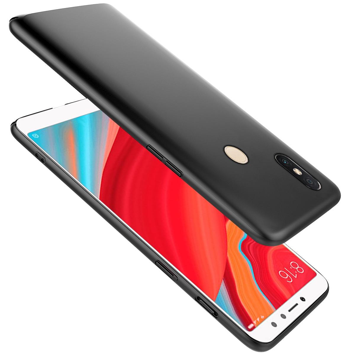 Xiaomi Redmi S2 Ультратонкий жесткий ПК Задний чехол Полный защитный чехол для тела Черный