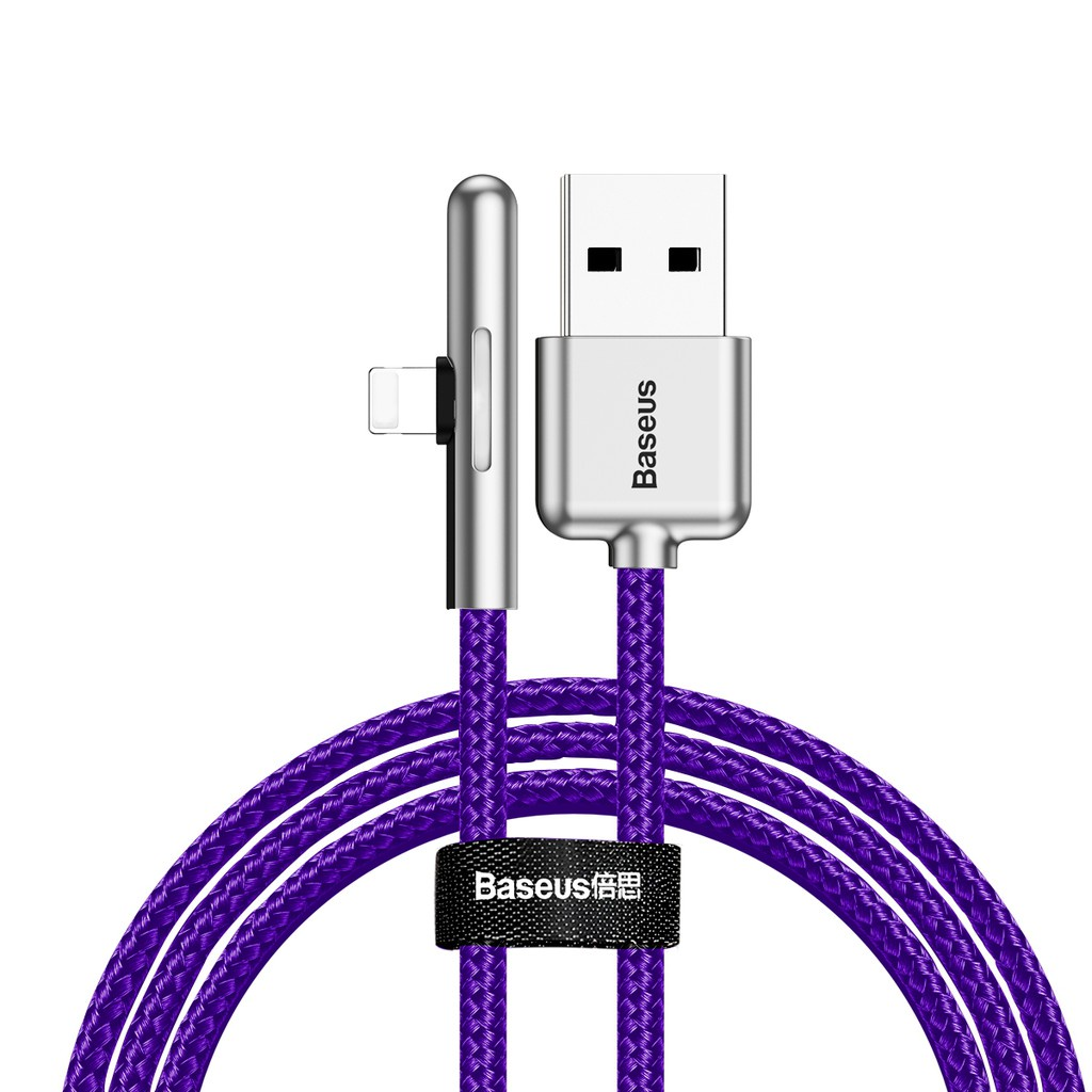 Кабель Baseus Iridescent Lamp Mobile Game Cable USB For iPhone 1.5A 2m Purple