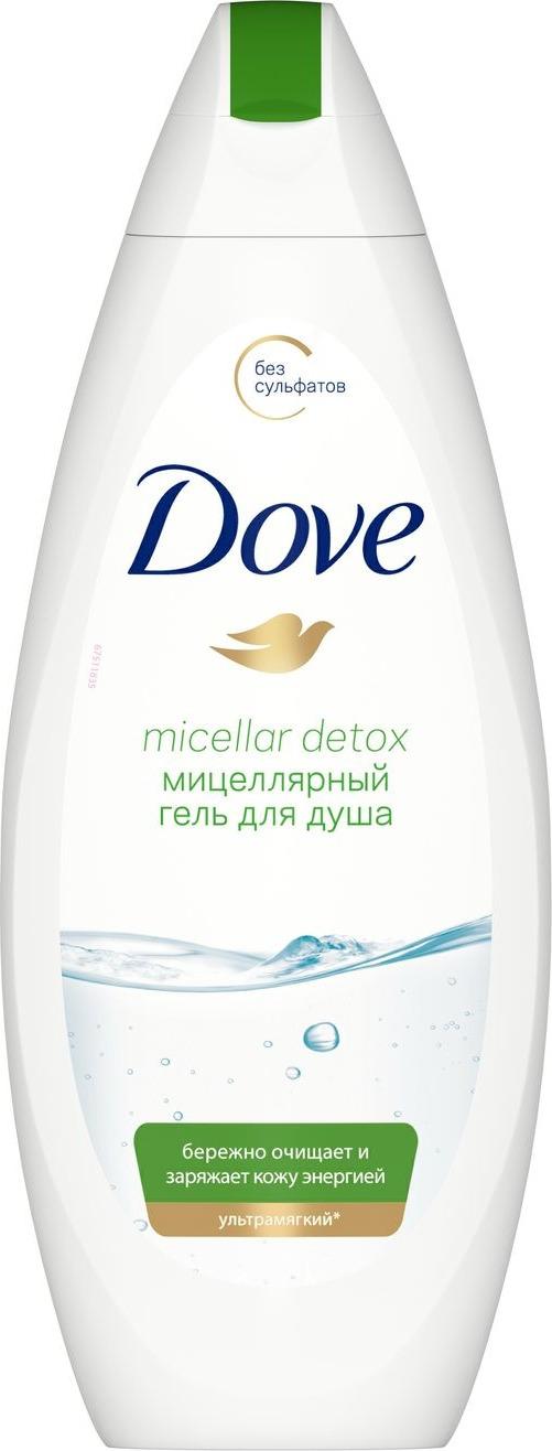 Гель для душа Dove Детокс, мицеллярный, 250 мл