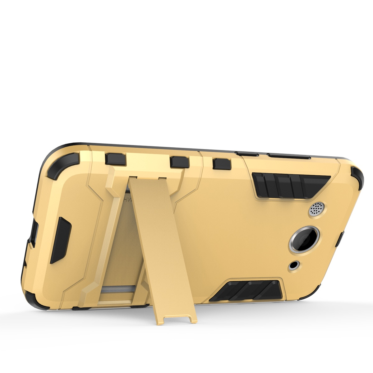 Легкий гибридный комбинированный мощный удар Прочный защитный чехол Защитный экран с кикштейном для Huawei Y3 (серебристый) glipart gt 53111rr