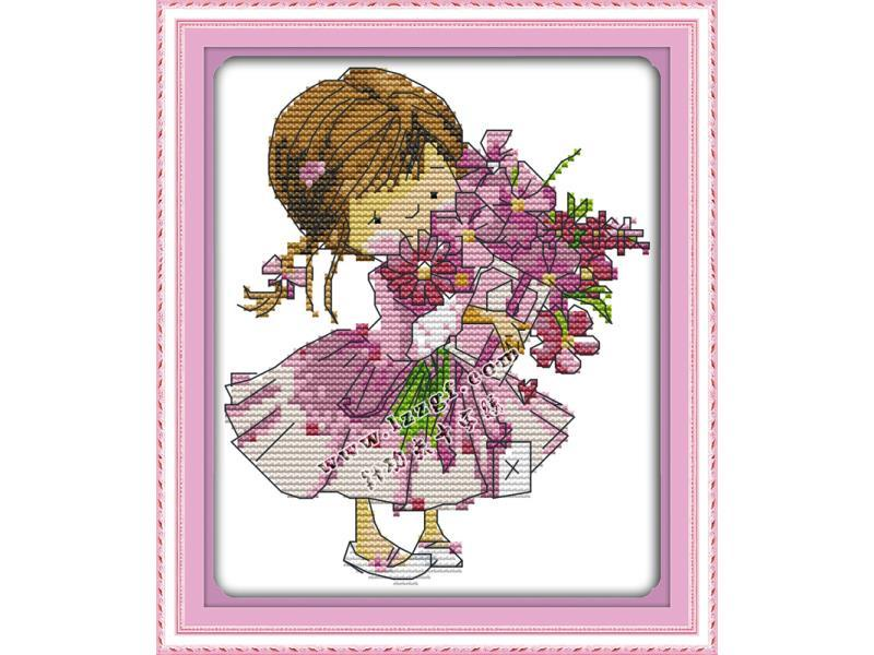 Набор для вышивания NKF Present a bouquet