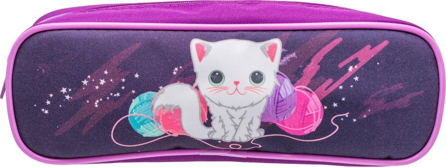 Пенал Tiger Family Fluffy Kitten, 1933/G/TG, фиолетовый ezh style пенал подставка kitten hypnotist