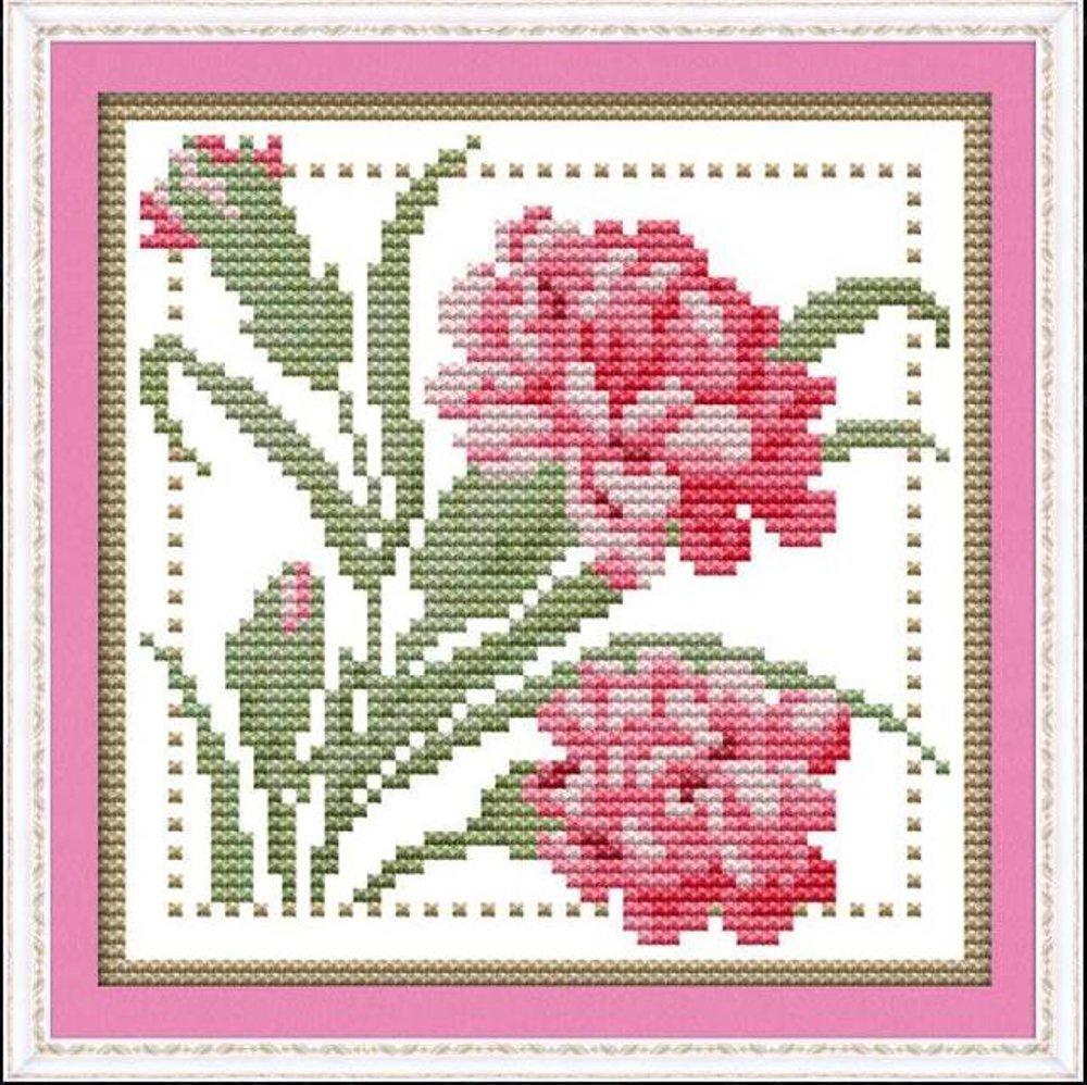 Картинка, вышивка крестом цветы открытка