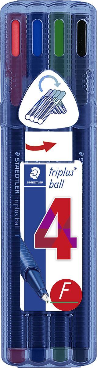 Набор шариковых ручек Staedtler Triplus Ball, 0,3 мм, 4 цвета