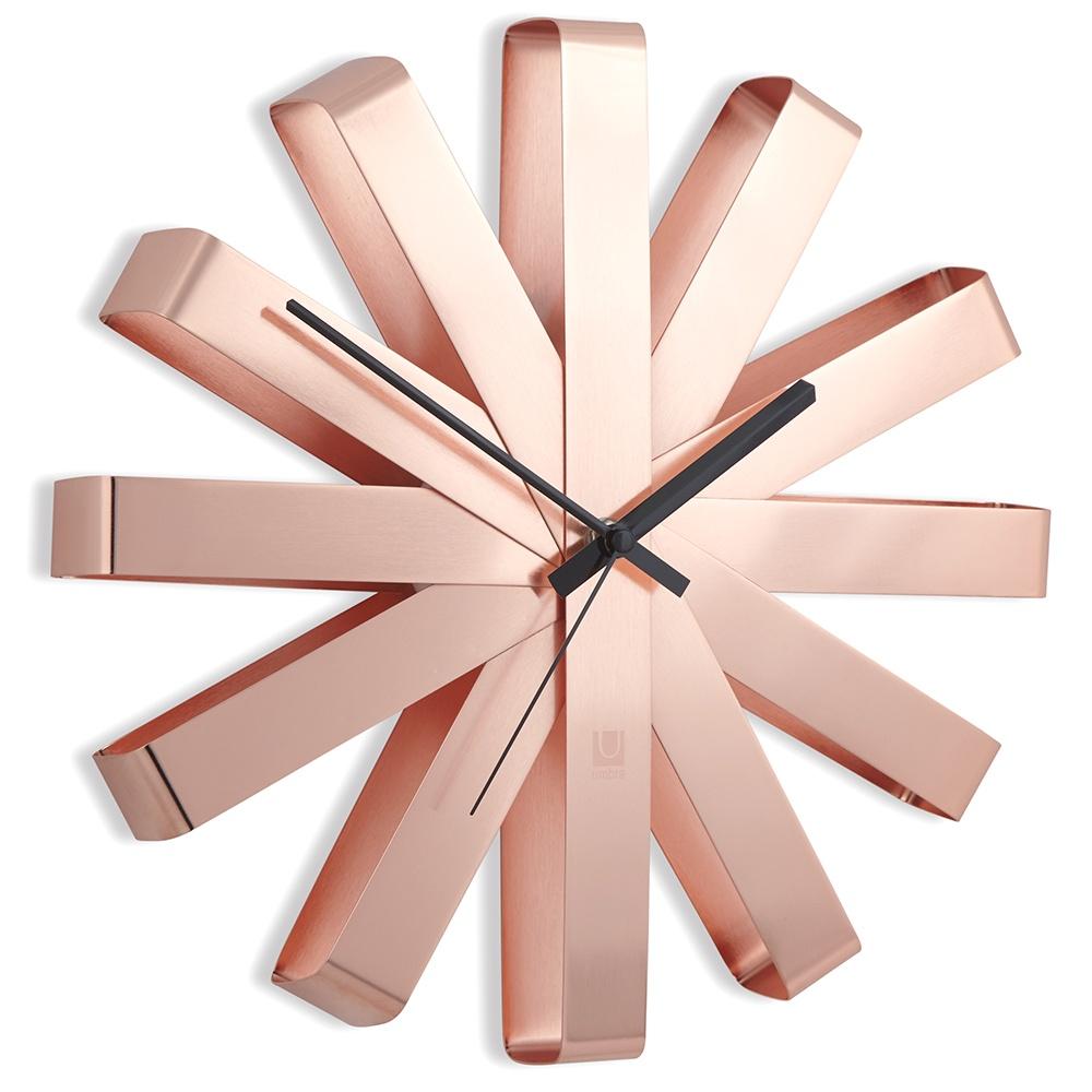 Настенные часы Umbra Часы настенные RIBBON медь