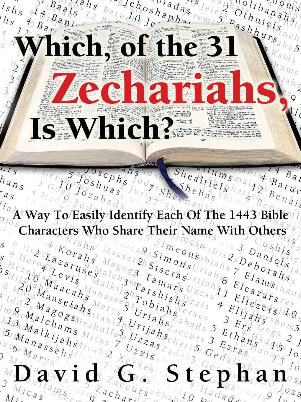David Stephan Which, of the 31 Zechariahs, Is Which? hubert razik handbook of asynchronous machines with variable speed isbn 9781118600863