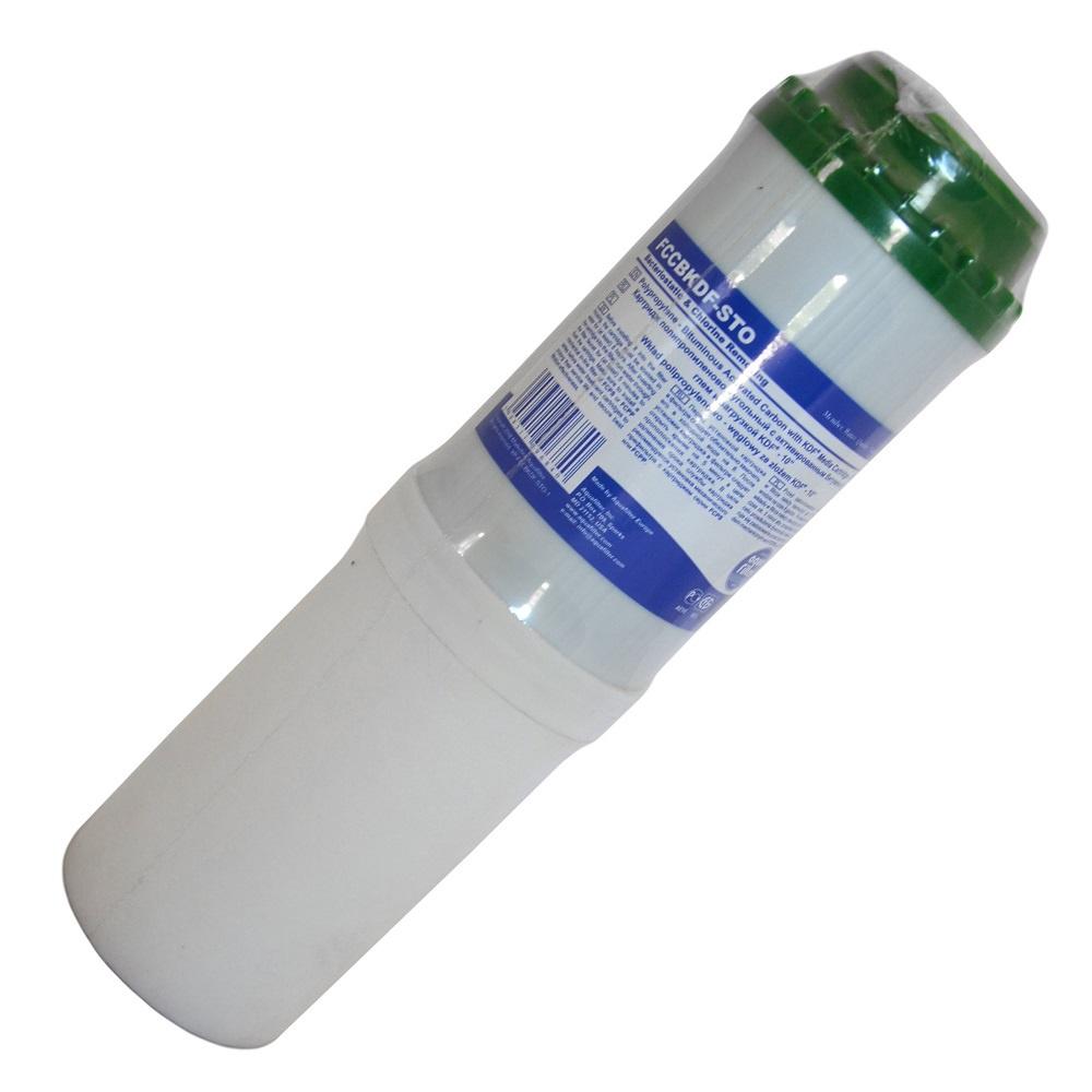 Картридж угольный, комбинированный 10SL (активированный уголь из скорлупы кокосовых орехов, гранулы полипропиленового волокна, загрузка KDF) Aquafilter FCCBKDF-STO, 669