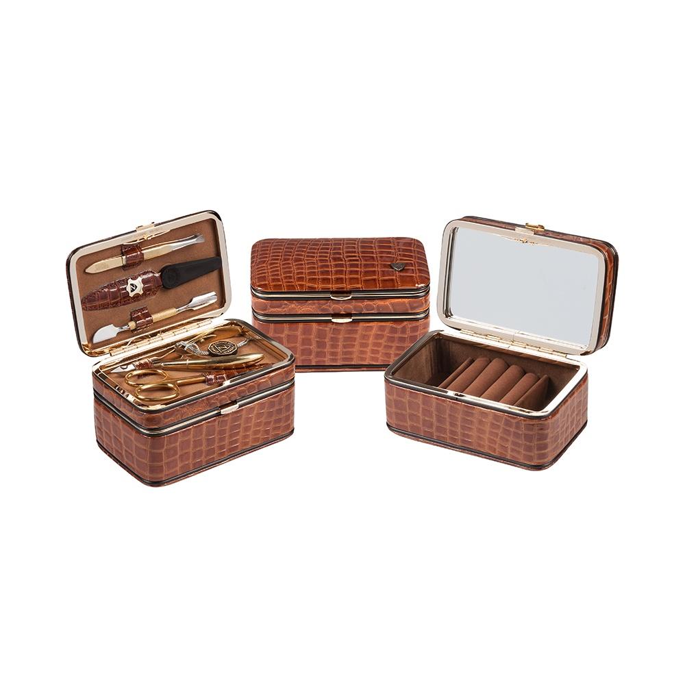 Zinger Маникюрный набор 5 предметов (1207-301G), коричневый