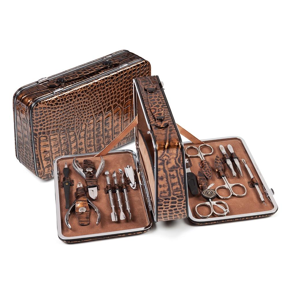 Zinger Маникюрный набор 14 предметов (BC-830-S), бронза